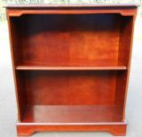 Polished Mahogany Open Bookcase Cabinet